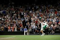Crowd salute: Andy Murray waves to fans as he leaves Centre Court
