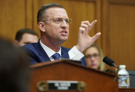 FILE PHOTO:  Rep. Doug Collins delivers an opening statement before acting U.S. Attorney General Whitaker testifies before House Judiciary Committee in Washington