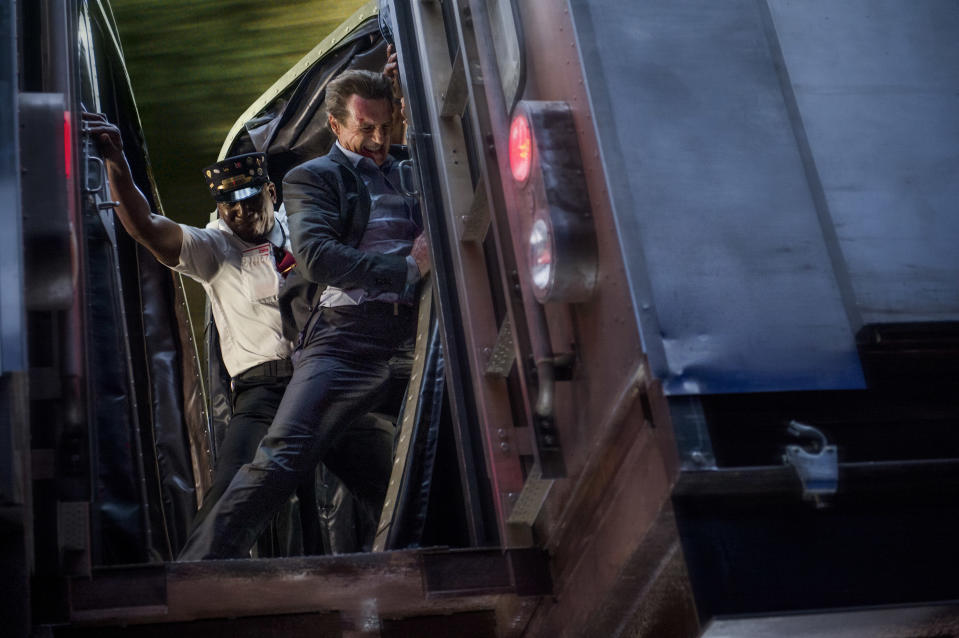Neeson on a runaway train in <em>The Commuter</em> (Photo: Jay Maidment/Lionsgate)