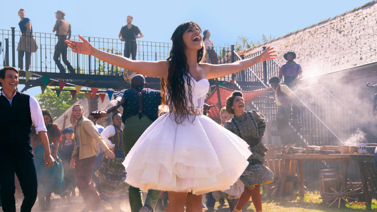 Camila Cabello plays a very different Cinderella in Kay Cannon's new reimagining of the classic fairy tale. (Christopher Raphael/Amazon)