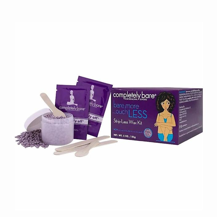 """<p>Reviewers can't stop talking about how painless this kit is. If you steer clear of waxes due to low pain tolerance, consider this kit designed for extra-sensitive skin. It comes with stripless wax, five applicators, and post-wax towelettes and is suitable for all areas.</p> <p><strong>What customers say:</strong> """"Going through menopause, I started getting facial hair on my lip, chin, etc. I've tried waxing, plucking, and couldn't really afford laser—but I bought this, and <em>wow</em>, it works excellently! I put it on the paddle and spread it, making sure to leave a thick tail on the end to pull. Within 60 seconds, the hair was gone on the first try! I used it on my eyebrows where hair is coarser and found excellent results as well. This product is a lifesaver—it reminds me of liquid latex, and is really pain free!"""" —<em>Cher58, at</em> <a href=""""https://shop-links.co/1702539293348300530"""" rel=""""nofollow noopener"""" target=""""_blank"""" data-ylk=""""slk:Ulta"""" class=""""link rapid-noclick-resp""""><em>Ulta</em></a></p> $13, Ulta. <a href=""""https://shop-links.co/1702537466790690831"""" rel=""""nofollow noopener"""" target=""""_blank"""" data-ylk=""""slk:Get it now!"""" class=""""link rapid-noclick-resp"""">Get it now!</a>"""