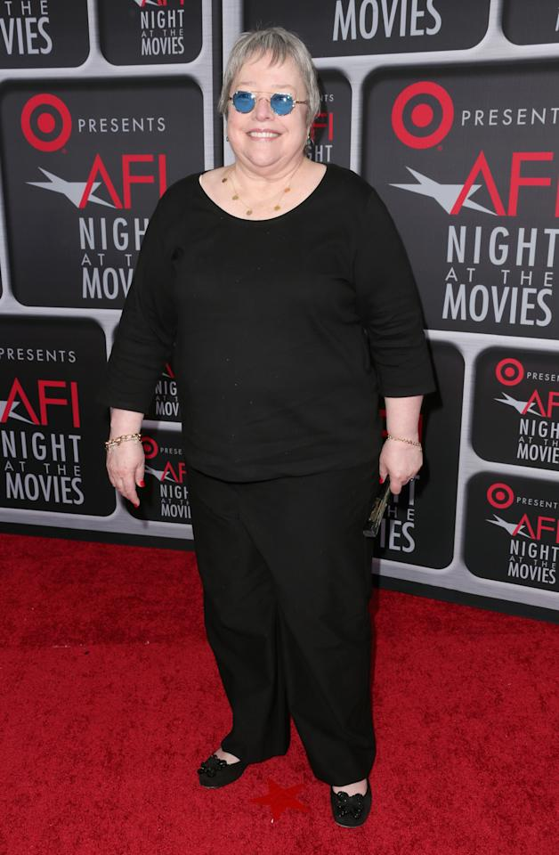 HOLLYWOOD, CA - APRIL 24:  Actress Kathy Bates arrives on the red carpet for Target Presents AFI's Night at the Movies at ArcLight Cinemas on April 24, 2013 in Hollywood, California.  (Photo by Frederick M. Brown/Getty Images)