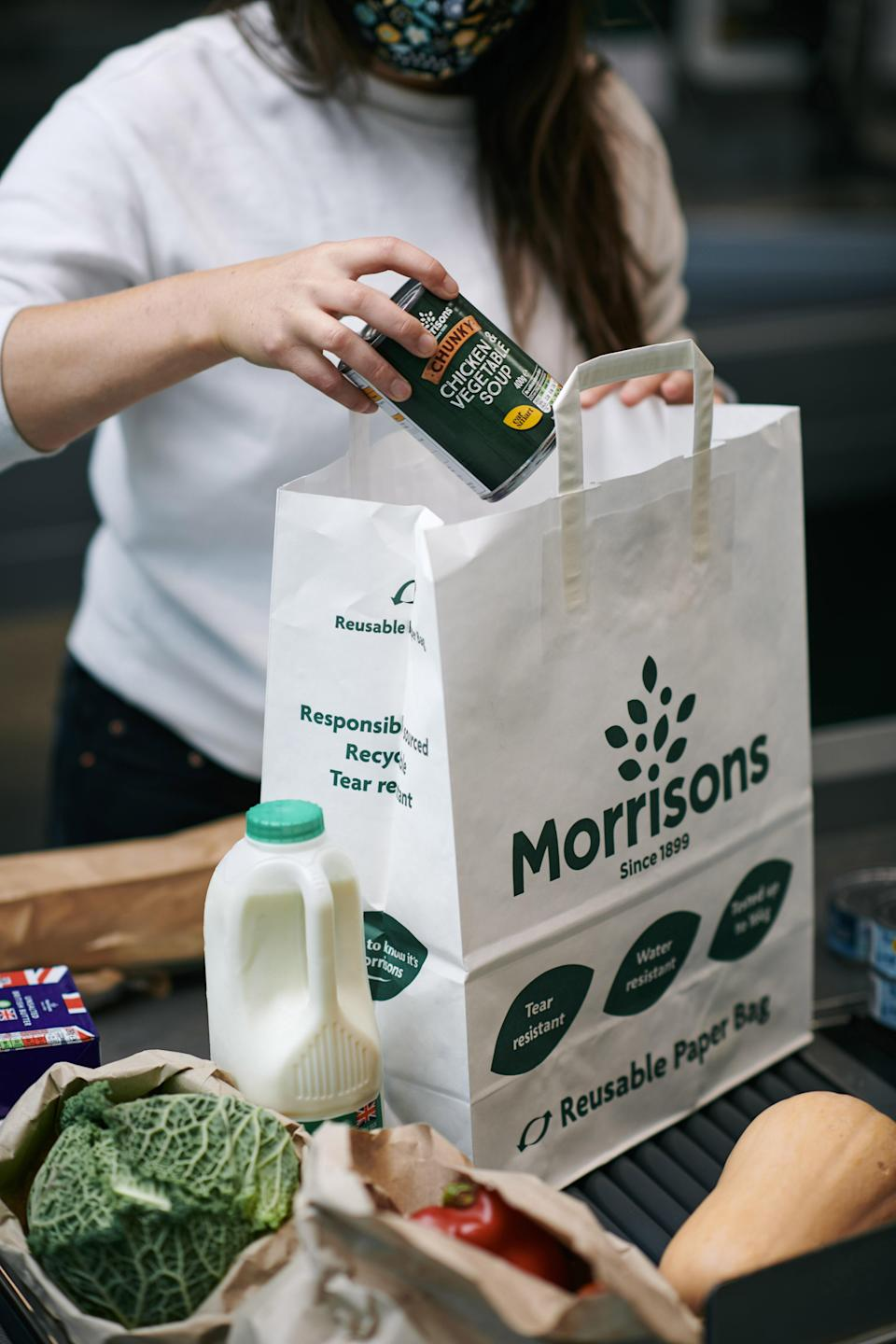 Morrisons has said customers will be able to buy 30p paper bags