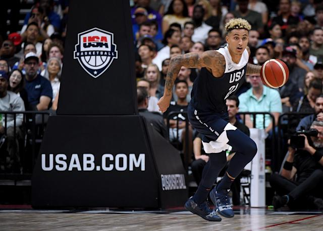 Kyle Kuzma #21 of the United States. (Photo by Harry How/Getty Images)