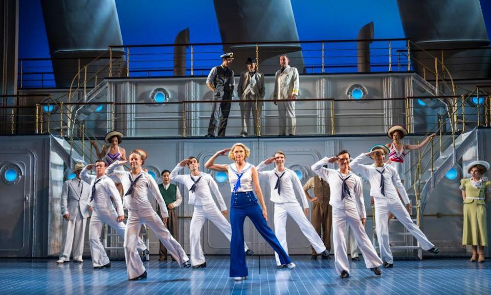 All shipshape ... Sutton Foster and cast in Anything Goes.