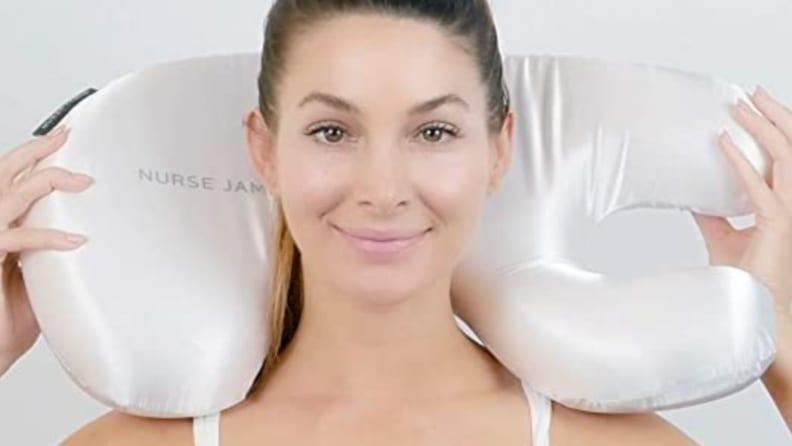 The Beauty Bear from Nurse Jamie is designed to allow you to sleep in any position without wrinkling your face against your pillow.