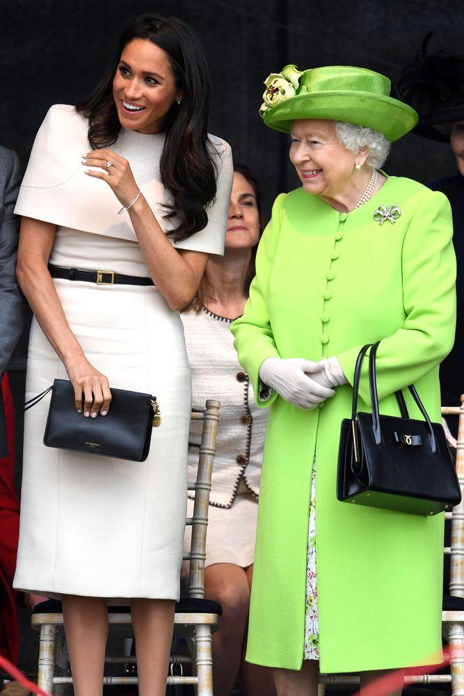 Queen Elizabeth and Meghan Markle on June 14, 2018.
