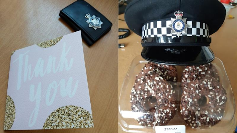 Police officers given thank you gifts by public after death of Andrew Harper