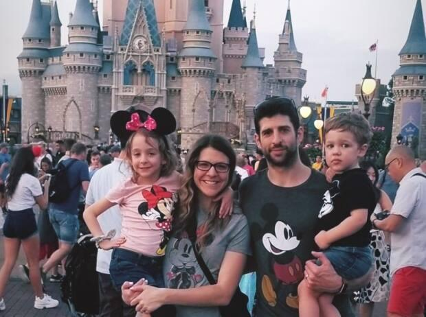 'Just hanging with 40,000 other people at Disney at the end of February,' says Rochelle Arsenault.