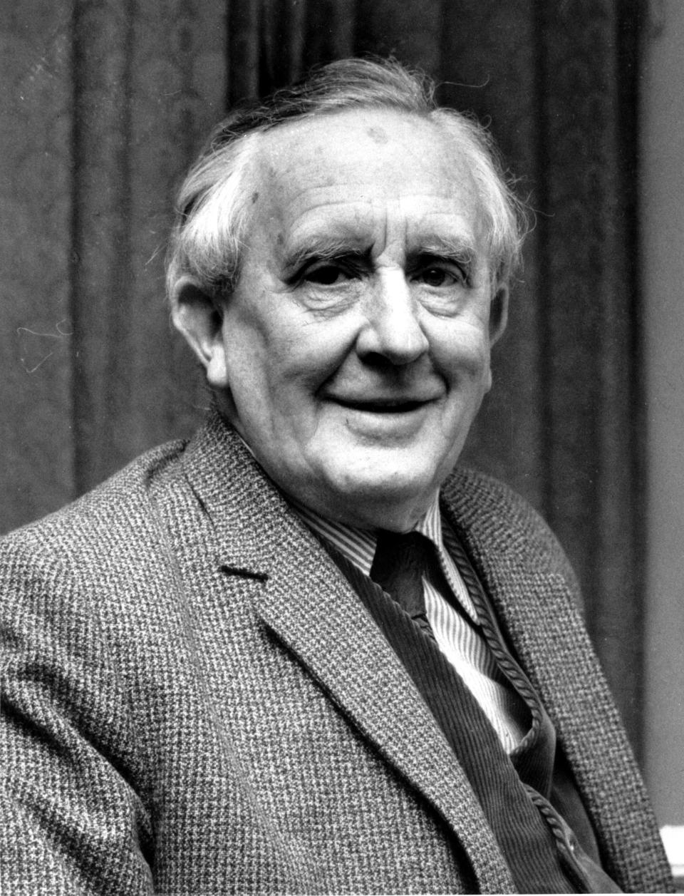 """**FILE**This is a 1967 photo of J.R.R. Tolkien.  Tolkien was the author of """"The Lord of the Rings"""" and an Oxford University Professor.  An unfinished tale by the author has been edited by his son into a completed work and will be released next spring, the U.S. and British publishers announced Monday, Sept. 19, 2006. Christopher Tolkien has spent the past 30 years working on """"The Children of Hurin,"""" an epic tale his father began in 1918 and later abandoned.  (AP Photo)"""