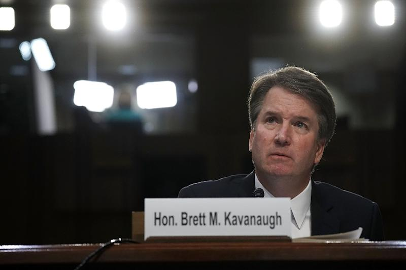Brett Kavanaugh, one of two conservatives appointed to the US Supreme Court by President Donald Trump (AFP Photo/ALEX WONG)