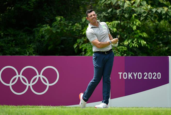 Rory McIlroy shot a two-under 69 in the first round at Kasumigaseki Country Club, Kawagoe (Reuters)