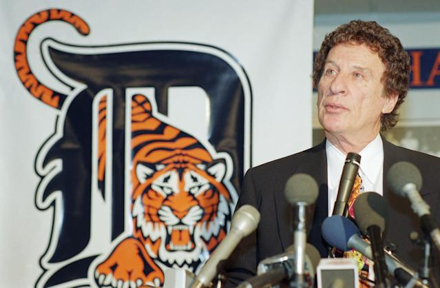 <p>Mike Ilitch (1929-2017): Longtime owner of Detroit Red Wings and Detroit Tigers. </p>
