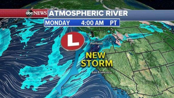 PHOTO: Another new storm is forming near the West Coast. (ABC News)