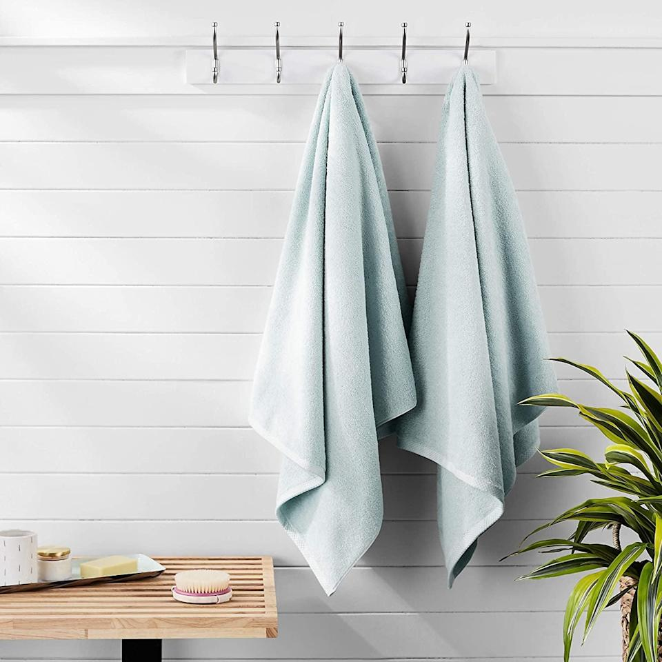 <p>The <span>Amazon Basics Quick-Dry, Luxurious, Soft Towels</span> ($20) come in a variety of chic pastel shades.</p>