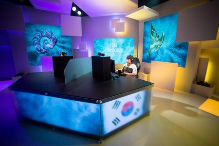 Athletes compete in the Intel Extreme Masters PyeongChang esports tournament in Gangneung, South Korea, February 7, 2018. Intel/Handout via REUTERS