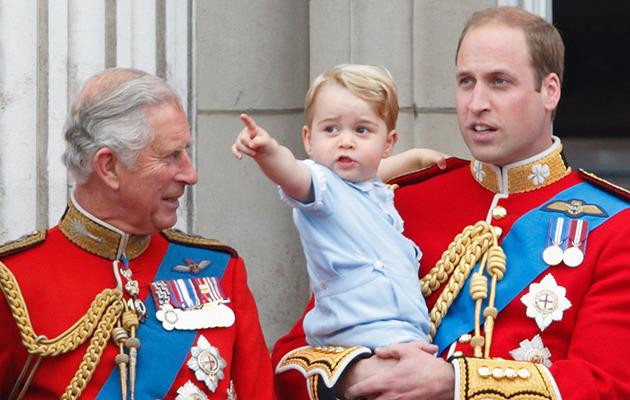 Prince Charles, Prince George and Prince William. Photo: Getty Images.