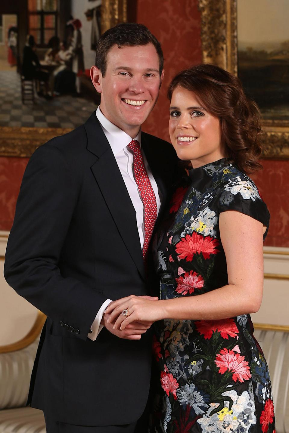 Princess Eugenie wore Erdem for her engagement announcement to Jack Brooksbank. [Photo: Getty]