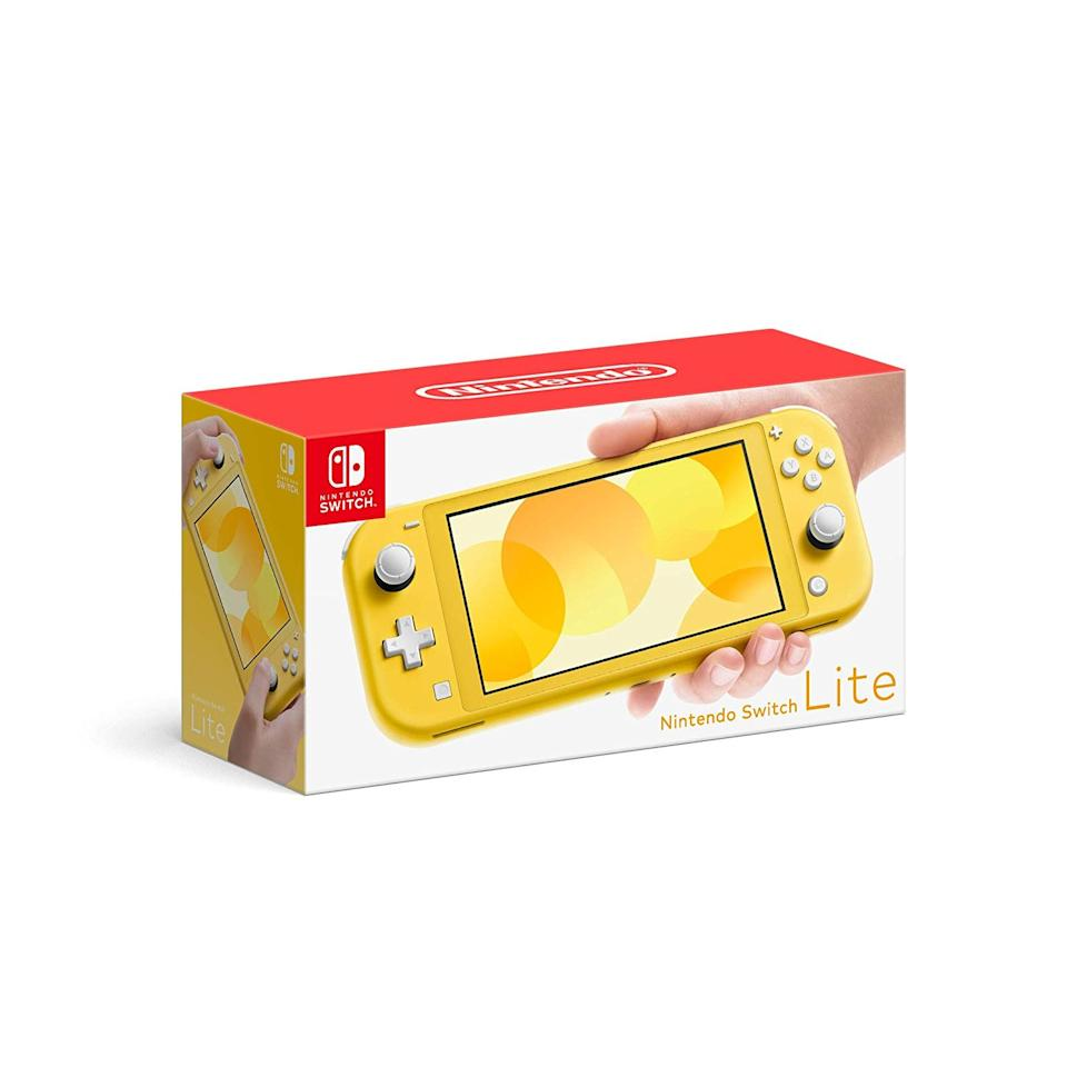 "$199.99, Amazon. <a href=""https://www.amazon.com/Nintendo-Switch-Lite-Yellow/dp/B07V3G6C1F"">Get it now!</a>"