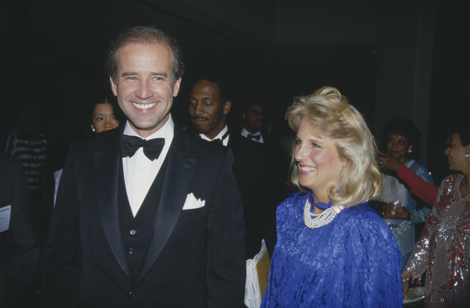 Joe Biden y su esposa Jill, en 1987. (Rick Maiman/Sygma via Getty Images)