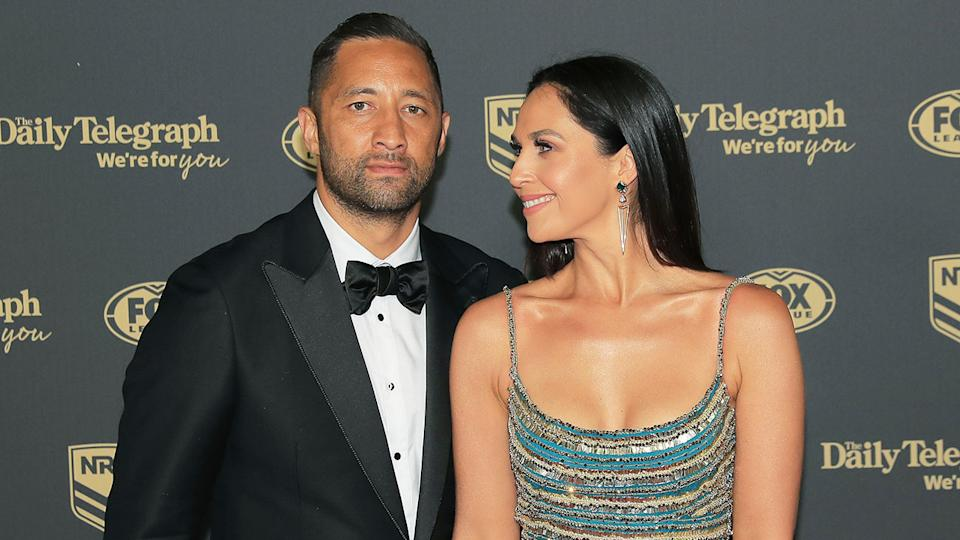 Zoe and Benji Marshall are seen here at the 2019 Dally M Awards night.