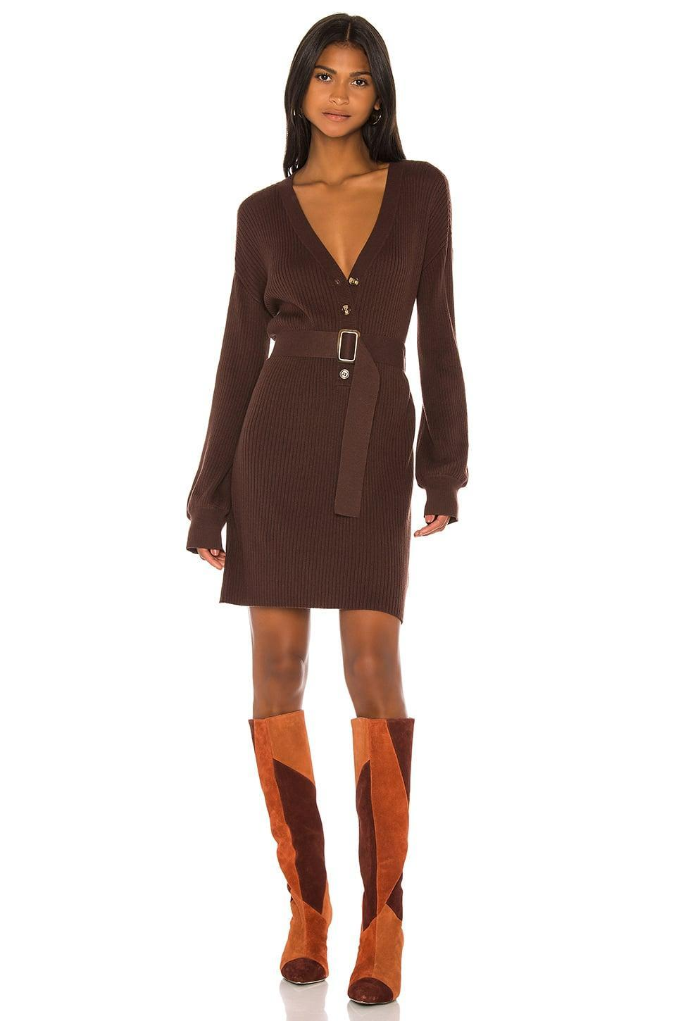 <p>This <span>Song of Style Darcey Sweater Dress</span> ($188) is casual and cozy but still cute.</p>
