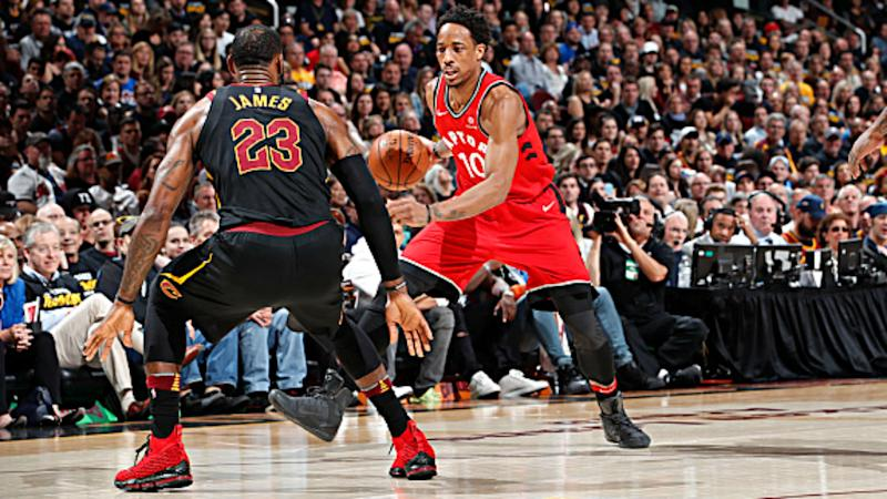 eed4e0784b66 NBA playoffs 2018  LeBron James says DeMar DeRozan has missed  a lot of  easy opportunities