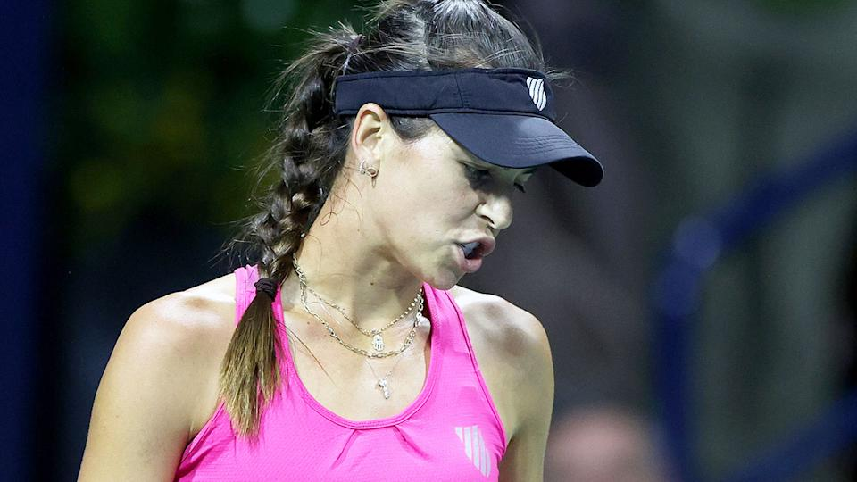 Ajla Tomljanovic is pictured here during the second round at the US Open.