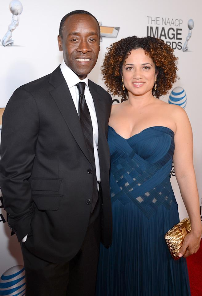 LOS ANGELES, CA - FEBRUARY 01:  Actor Don Cheadle and wife Bridgid Coulter attend the 44th NAACP Image Awards at The Shrine Auditorium on February 1, 2013 in Los Angeles, California.  (Photo by Mark Davis/Getty Images for NAACP Image Awards)