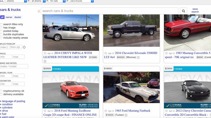 Craigslist Is No Longer Letting You List Your Car For Free