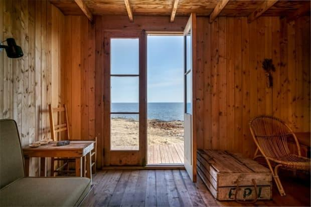 This cabin built by Alex Colville in 1964 on the Northumberland Strait went up for sale in April, exciting art lovers around Nova Scotia. (Sara Jewel/Concept Measures - image credit)