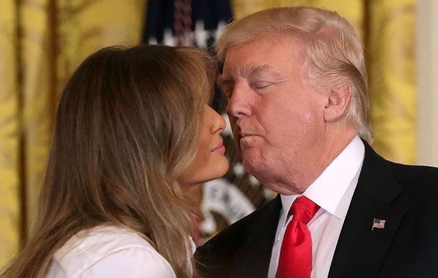 Much has been made of the awkward public appearances of Melania and Trump. Photo: Getty