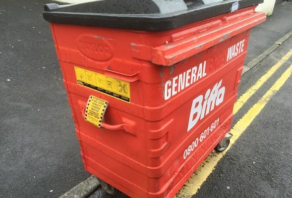 ticketed wheelie bin