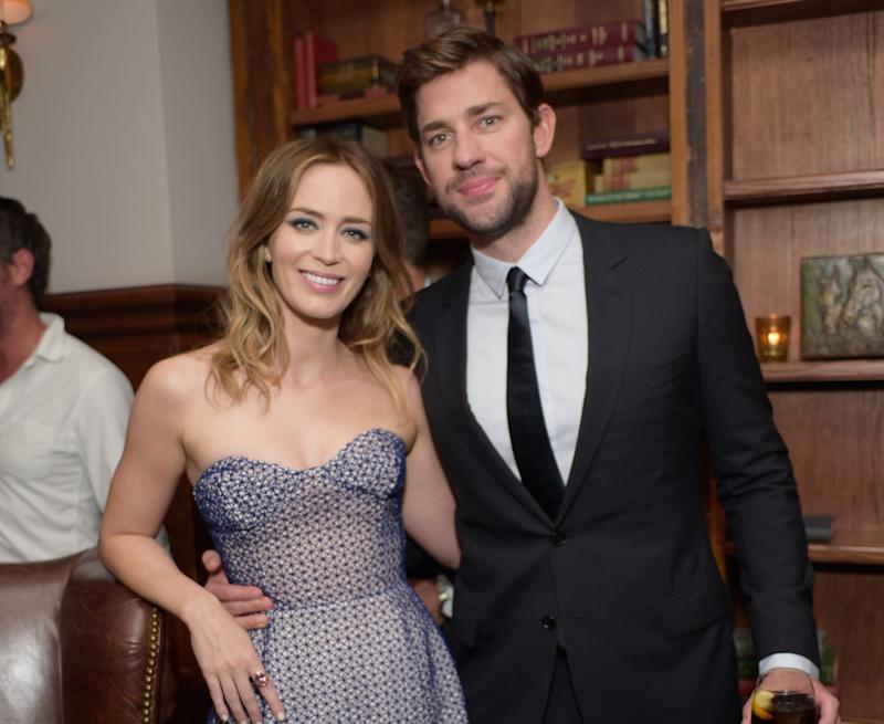 Emily Blunt and John Krasinski at a TIFF party in Toronto in 2015.
