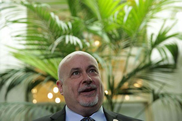 PHOTO: Rep. Mark Pocan speaks to members of the media after a House Democrats meeting at the Capitol, May 22, 2019, in Washington. (Alex Wong/Getty Images)
