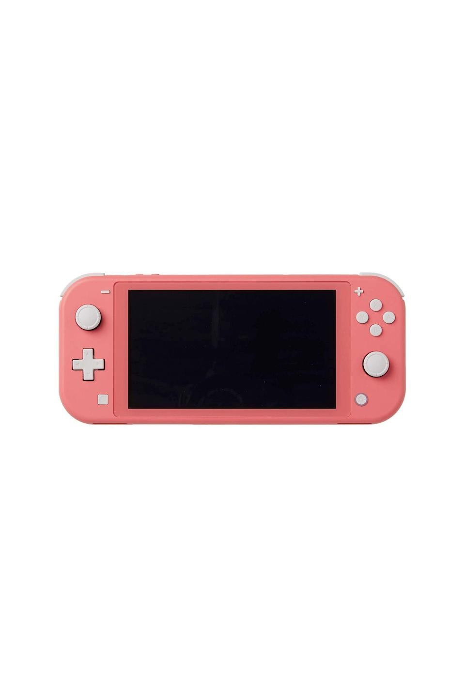 "<p><strong>Nintendo</strong></p><p>amazon.com</p><p><strong>$199.00</strong></p><p><a href=""https://www.amazon.com/dp/B084Y3VVNG?tag=syn-yahoo-20&ascsubtag=%5Bartid%7C10049.g.36069868%5Bsrc%7Cyahoo-us"" rel=""nofollow noopener"" target=""_blank"" data-ylk=""slk:Shop Now"" class=""link rapid-noclick-resp"">Shop Now</a></p><p>I truly don't know what I would've done without a Switch this quarantine. Animal Crossing: New Horizons was my therapy, my religion, my everything—and hell, it still is. The Switch Lite is perfect for solo players who need a fun distraction when refreshing the IG feed just isn't cutting it anymore. </p>"