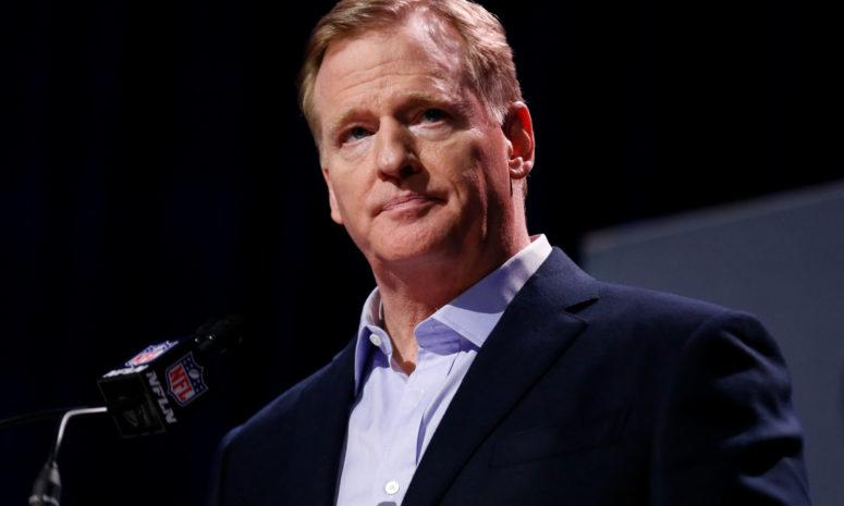roger goodell speaks to nfl reporters