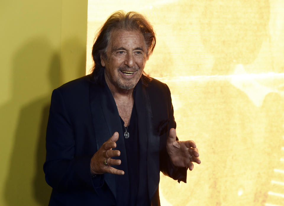 Al Pacino, a cast member in the Amazon Prime Video series