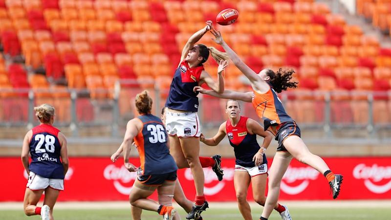 Melbourne are through to the AFLW preliminary finals with a 29-26 win over GWS at Giants Stadium