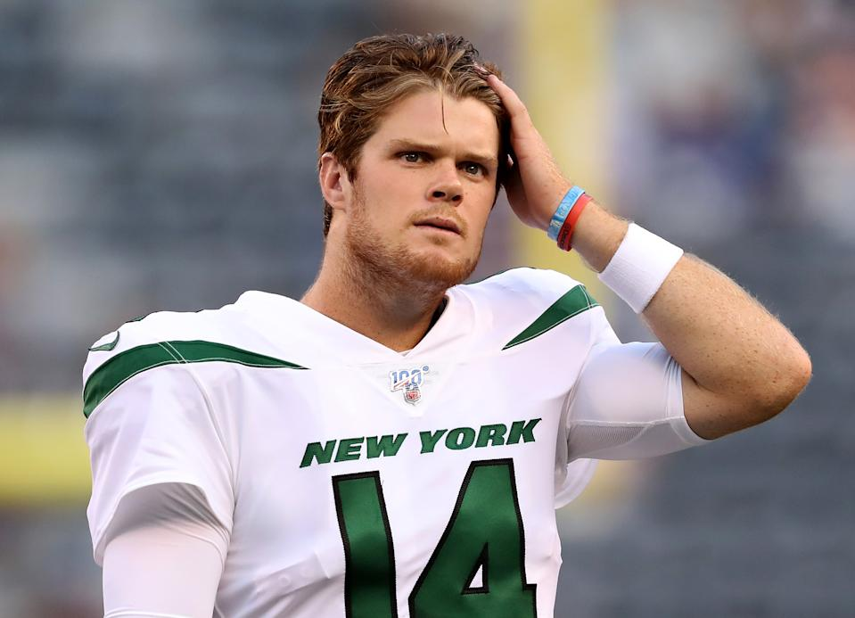 Sam Darnold had a solid game against the New York Giants during a preseason matchup (Getty Images).