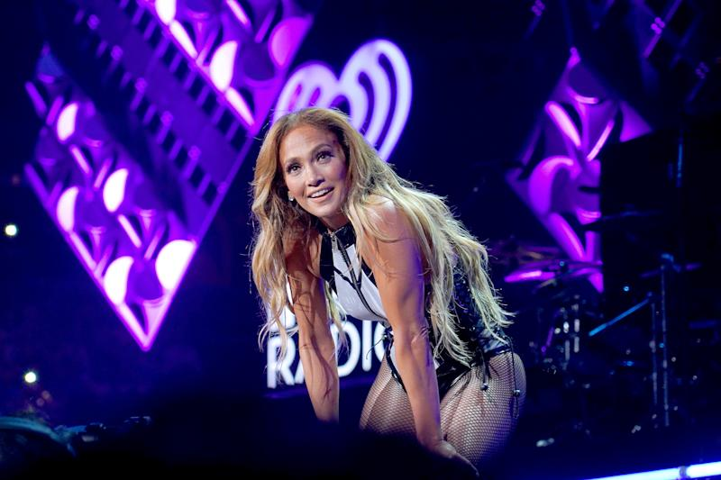 MIAMI, FLORIDA - NOVEMBER 02: Jennifer Lopez performs onstage at the 2019 iHeartRadio Fiesta Latina at AmericanAirlines Arena on November 02, 2019 in Miami, Florida. (Photo by Sergi Alexander/Getty Images)