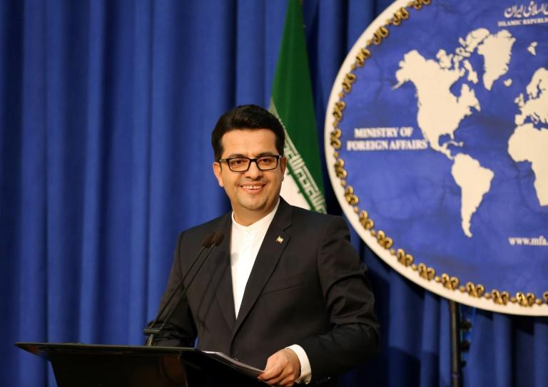 Iranian foreign ministry spokesman Abbas Mousavi, seen here in May 2019, has voiced solidarity with US protesters
