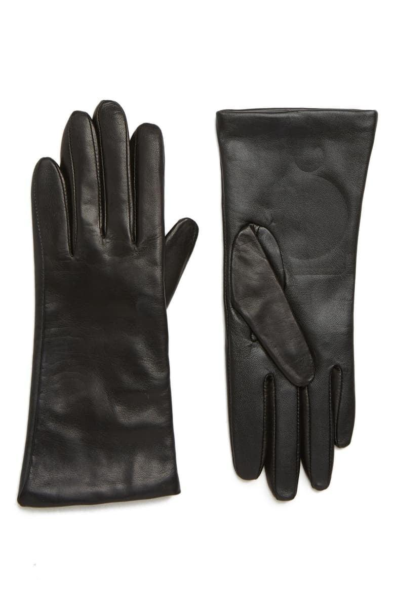 <p><span>Nordstrom Cashmere Lined Leather Touchscreen Gloves</span> ($59, originally $99)</p>
