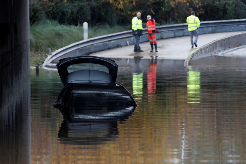 Five dead in French helicopter crash, floods