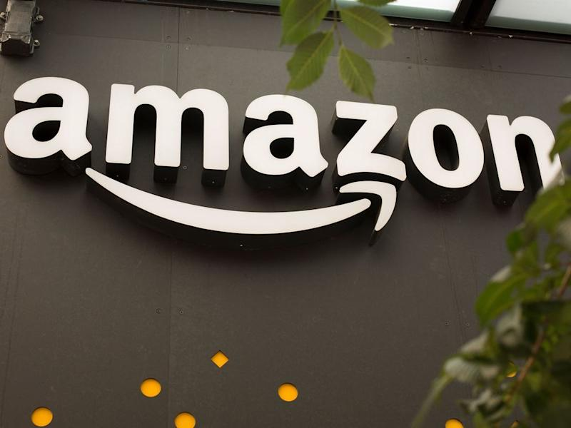 An Amazon Go store sign in Seattle, WA. | David Ryder/Getty Images