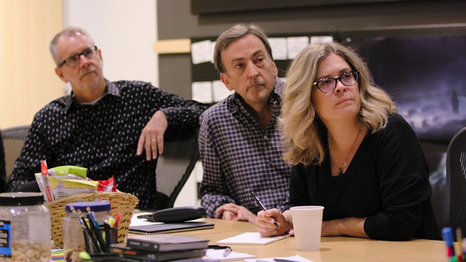 Chris Buck and producers Peter Del Vecho and Jennifer Lee. Image: Walt Disney Animation Studios