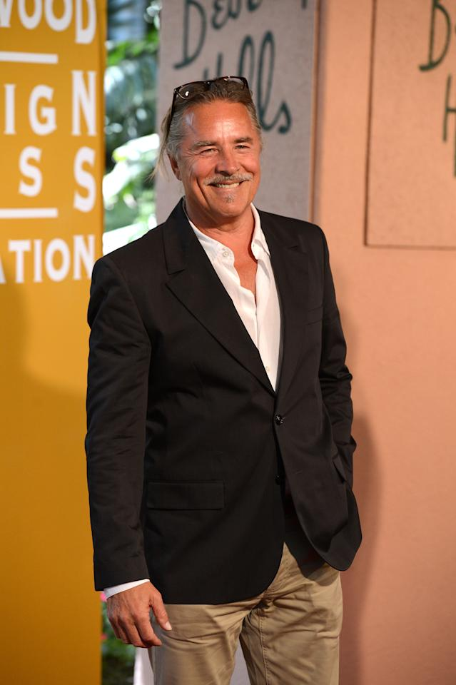 BEVERLY HILLS, CA - AUGUST 09:  Actor Don Johnson arrives at the Hollywood Foreign Press Association's 2012 Installation Luncheon held at the Beverly Hills Hotel on August 9, 2012 in Beverly Hills, California.  (Photo by Jason Merritt/Getty Images)