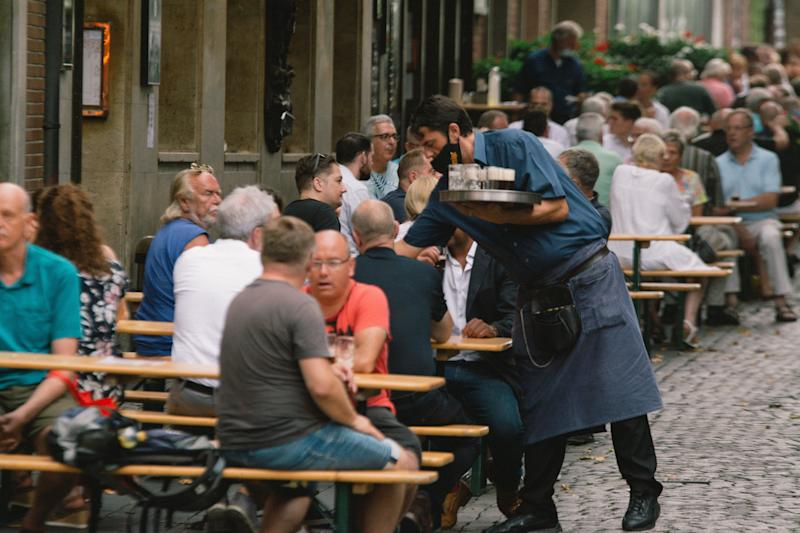 genereal view of a beer garden restaurant in Duesseldorf, Germany, on August 13, 2020 amid the coronavirus emergency, (Photo by Ying Tang/NurPhoto via Getty Images) (Photo: NurPhoto via Getty Images)