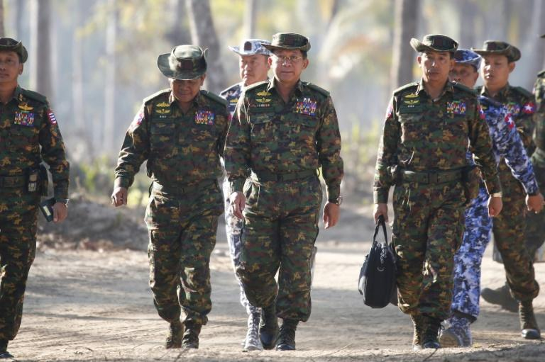 Many in Myanmar have jumped to the defence of the military, adopting photos of the head of the army as their Facebook profile pictures