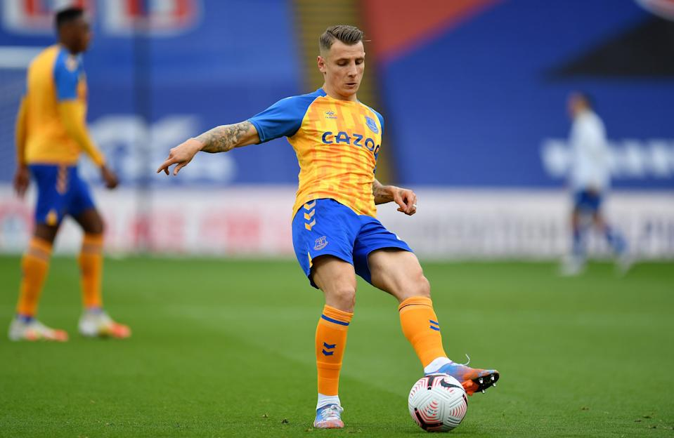 Lucas Digne warms up before kick-off in south London (Getty Images)